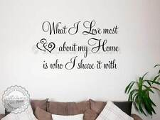 Family Wall Sticker, Inspirational Quote, Love Home, Vinyl Wall Decal,