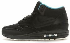 Nike Air Max 1 Mid FB Leather Trainers in Black & Blue 685192 002