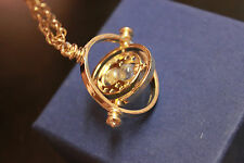 Harry Potter Time Turner Hermione Granger Rotating Spin Hourglass Necklace
