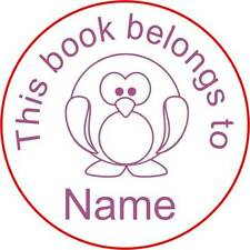 Personalised Clear Acrylic Craft Stamp (Rubber Stamp) - Penguin