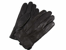 MENS NEW SOFT BROWN FULLY LINED REAL LEATHER GLOVES EVERYDAY DRIVING