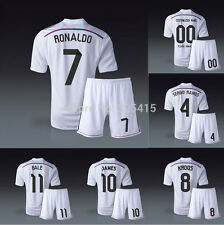 Real madrid 14/15 shirt with short Ronaldo, James, Bale, Ramos, Kroos S M L XL