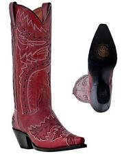 NEW DAN POST Women's SIDEWINDER Lipstick Volcano Leather Western Cowboy Boots