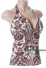 Victoria's Secret Forever Sexy Scroll  Wireless Padded Push-up Tankini Top NEW