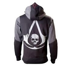 Assassins Creed - Grey Black Flag - Brand New OFFICIAL Hoodie - Vrs Sizes