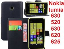 Flip Leather Wallet stand Case Cover For Nokia lumia 630 520 530 620 625 730 830