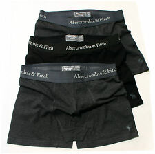 3 x Abercrombie Fitch A&F Comfortable Black & Grey Cotton Men Boxer Underwears *