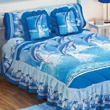 Blue Dolphin Design bedspread made of cotton and polyester
