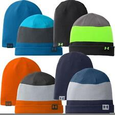 UNDER ARMOUR 4 IN 1 REVERSIBLE STRIPE BEANIE HAT -MENS WINTER / THERMAL GOLF HAT