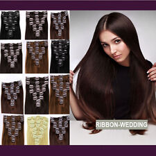 Popular 100% Real Good Clip In Remy Human Hair Extensions Full Head US SHIP F317