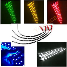 4PCS DIY Car Led Lamp String Waterproof Flexible Strip Light 30CM Auto Vehicle