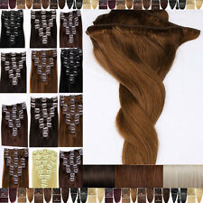 100% Real Good Quality Clip In Remy Human Hair Extensions Full Head US STOCK F77