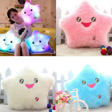 Thrown Changing LED Colorful Light Smile Star Toss Pillow Cushion