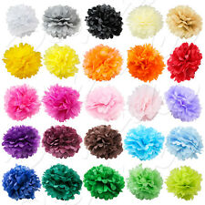 "5/10 PC Paper Tissue Pom Poms 8"" 10"" 12"" 14"" 16"" Flower Wedding Party Pack piece"
