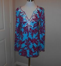 """NWT Lilly  Pulitzer size """"M"""" WESTLEY  COTTON TUNIC """"RHODE ISLAND REEF SMALL """""""