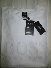 Men's Hugo Boss Black Label Tee Beach Swim Logo S/S crewneck T-shirt white