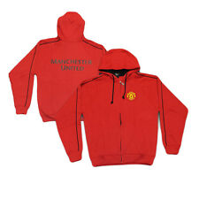 Manchester United Fleece Hooded Zip-Up Sweatshirt Soccer Jacket Rhinox Hoodie