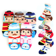 Brand New Womens funny socks Cute Print Cartoon Career Character Ankle Socks