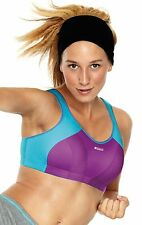 SHOCK ABSORBER SPORTS BRA - B4490 - PURPLE/TURQUIOSE - NEW - LEVEL 4 - 28D - 34G