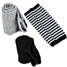Lady Stretchy Soft Arm Warmer Long Sleeve Fingerless Gloves - Black ED