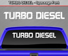 TURBO DIESEL Spaceage Windshield Decal Back Window Sticker Graphic Performance