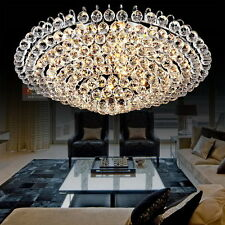 Luxury K9 Crystal Ceiling Light Fixture LED Lighting Living Room Light 110-240V