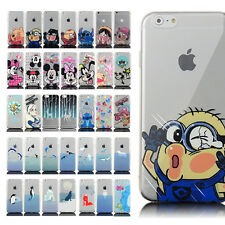 Ultrathin Fashion Cartoon Painted TPU Back Case Cover For iPhone 4 5S 6 6 plus