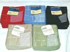 Six (6) Dish Cloths Kitchen Wash Cloths Cleaning Towels Microfiber 12x12""