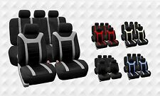 Sports Style Car Seat Covers Full Set Split Bench Option Multiple Color Options