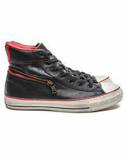 Converse By John Varvatos Chuck Taylor High Leather Zip (Black/Red) Authentic