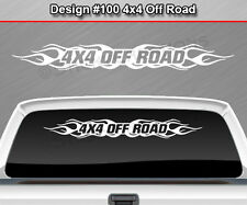 Design #100 4X4 OFF ROAD Flame Flaming Windshield Decal Sticker Window Graphic