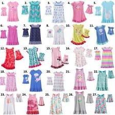 "Girl 2T-7 and 18"" doll matching nightgown pajamas fit Dollie Me & American Girl"