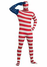 USA Flag Second Skin Suit - Zentai Morph Party Costume - American