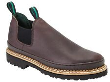 Georgia Men's Giant Romeo Slip On Leather Work Shoes Soggy Brown GR262
