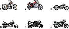 Waterlside Nail Decals Set of 20 - Motorcycle - you choose