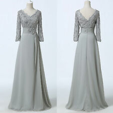 V-Neck 3/4 Sleeve Sexy Mother Of Bride/Groom long dress Evening Party Dresses