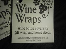 WINE BOTTLE WRAPS DECORATION HOME DECOR COVER  FOR GIFT WRAP