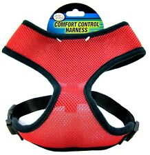 Four Paws Comfort Dog Harness Breathable fit Mesh Material no tug control Red