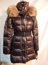SAM Millenium Down Fur Trim Hooded Jacket  Chocolate Authentic   New w/Defects