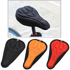 Cycling Bike Bicycle MTB Saddle Seat Cover Silicone Gel Cushion Soft Pad Cover