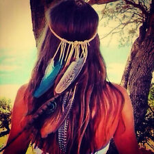 Tribal Headband Native American Feather Headband Hippie Headband Boho Headband