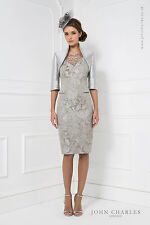 25823A JOHN CHARLES SILVER BEADED TRIM MOTHER OF BRIDE OUTFIT RRP £699 SAVE 30%