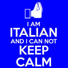 I Am Italian And I Can Not Keep Calm Funny Men's Ladies Kid's T-Shirt Vest S-XXL