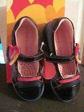 Agatha Ruiz De La Prada Kids Girls Blue Leather/Denim Shoes New in Box