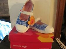 AGATHA RUIZ DE LA PRADA BLUE WHITE HEARTS CASUAL SHOES NEW IN ORIGINAL BOX