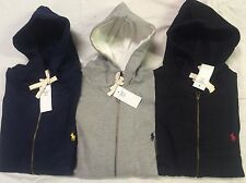 NWT Polo Ralph Lauren Classic Full Zip Fleece Hoodie Size S M L XL NEW