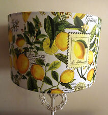 Shabby chic lampshade French Country Kitchen Lemon stamp old script