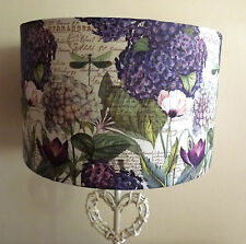 Hydranga Floral Botanical lampshade script french country shabby chic