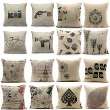 Cotton Linen Printing Home Decorative Sofa Cushion Cover Throw Pillow Case Decor