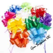 "LARGE QUICK PULL BOWS 50mm  - 6"" Inch - CHRISTMAS GIFT HAMPERS WEDDINGS FLOWERS"
